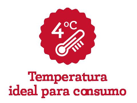 Temperatura ideal de consumo da A Mineira